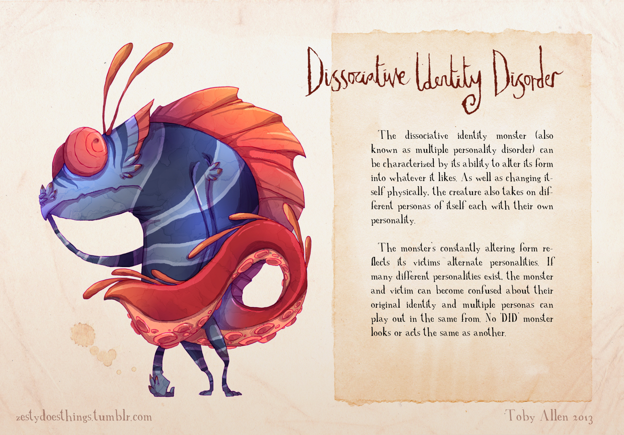 08-Dissociative-Identity-Disorder-Toby-Allen-Monster-Illustrations-to-Embody-Mental-Illness-www-designstack-co