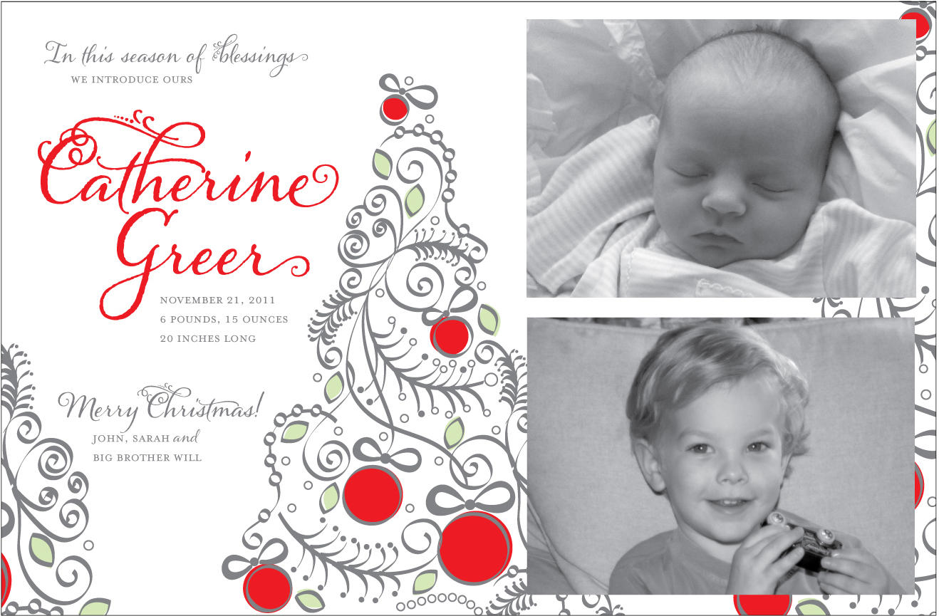 Rice Designs: 2011 christmas card birth announcements