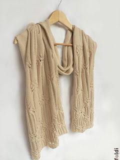 passap machine knitted butterfly lace shawl scarf