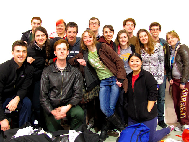 A group of students pose for the photo
