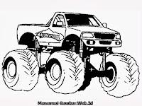 Mewarnai Mobil Truk Monster
