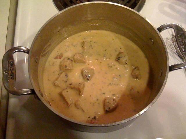 sauce aux champignons chanterelle, à la crème pour venaison (sans gluten)