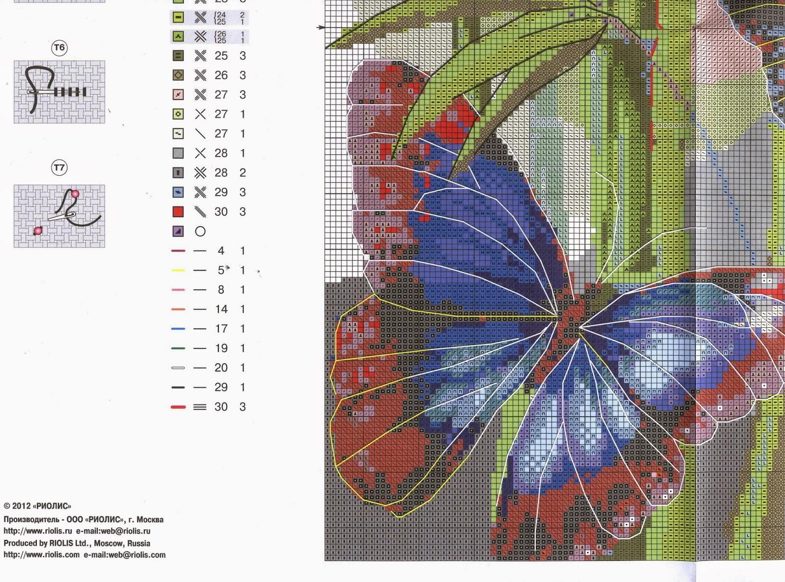 Вышивка схема бабочки скачать бесплатно фото 644
