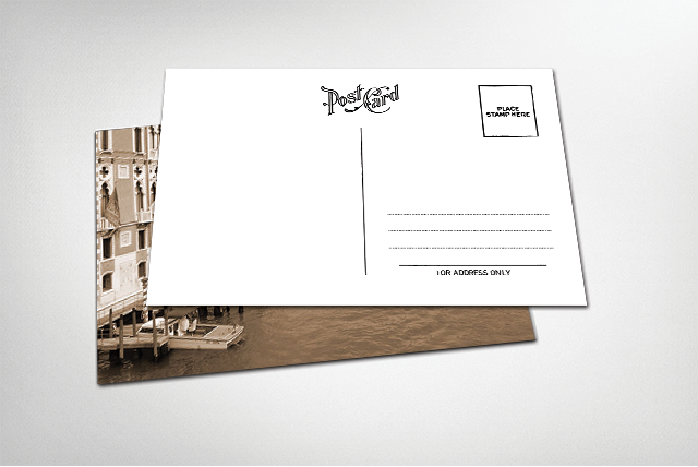 plantilla para personalizar tarjeta postal postal card template