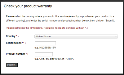 HP Carepack Warranty Status