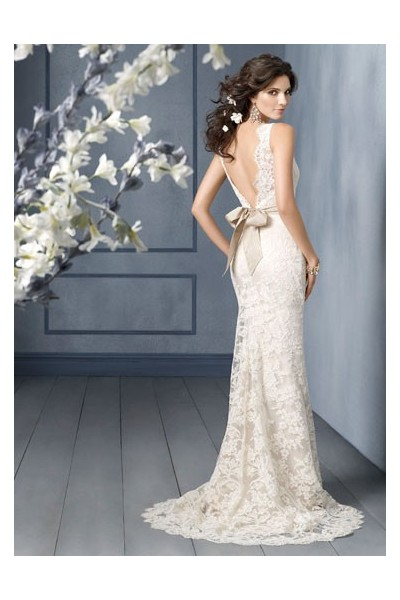 Dress Wedding on Wedding Celebrity  Lace Wedding Dresses 6