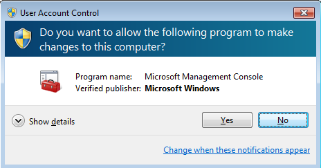 User Account Control dialog