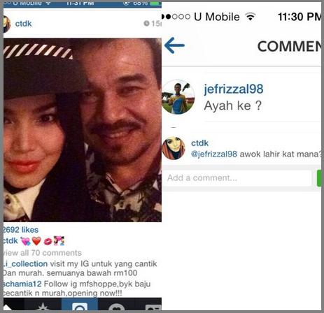 Peminat sangka Datuk K ayah kepada Dato CT