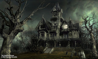 Haunted house, a haunted house, ghost house.