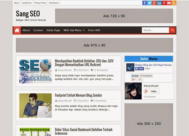 Sang SEO Responsive Blogger Template