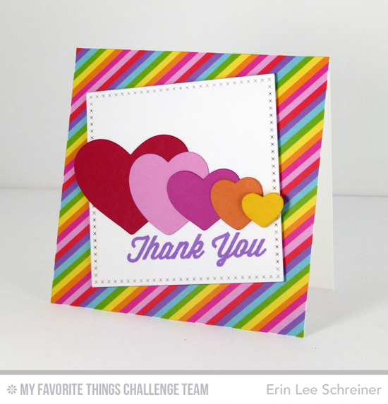 Awesome 80s Thank You Card by Erin Lee Schreiner featuring the Lisa Johnson Designs For the Boys stamp set and All My Love Die-namics