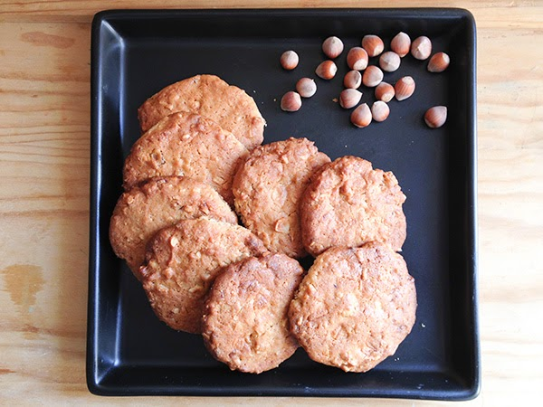 receta galletas de avellana y chocolate blanco