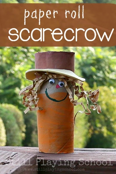 Toilet Paper Roll Scarecrow Still Playing School
