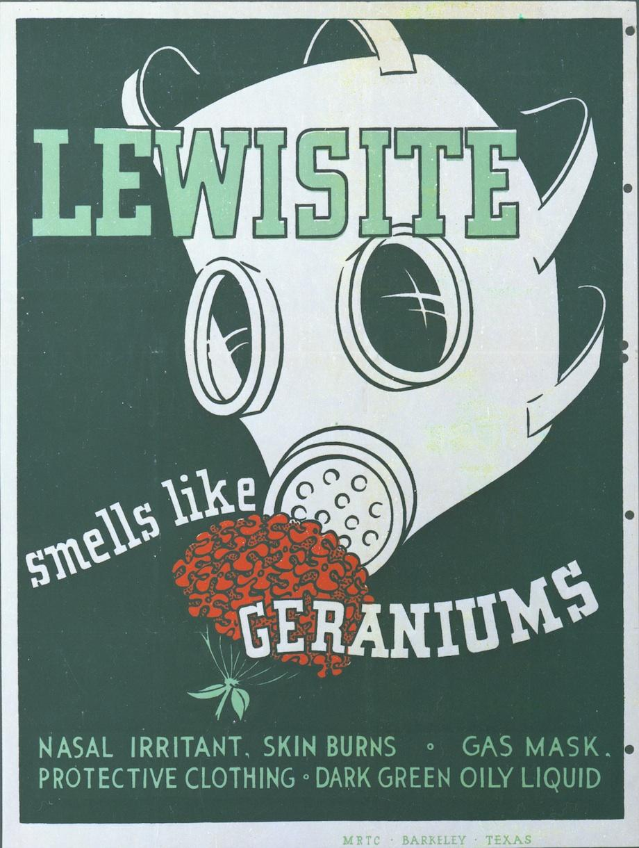 four wwii posters that taught soldiers to identify chemical weapons