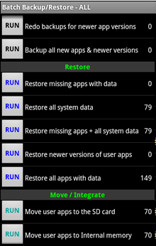 Restore Data di android