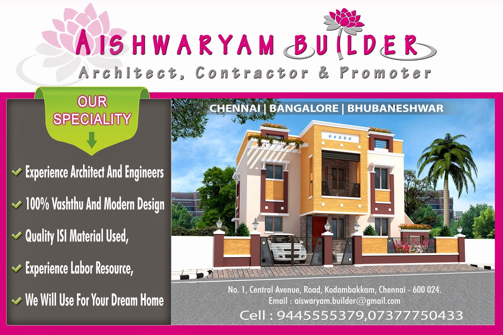 contractors in chennai we are offering service architects in