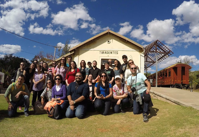 2o Encontro de Inverno de Blogueiros de Viagem, estação de Tiradentes-MG