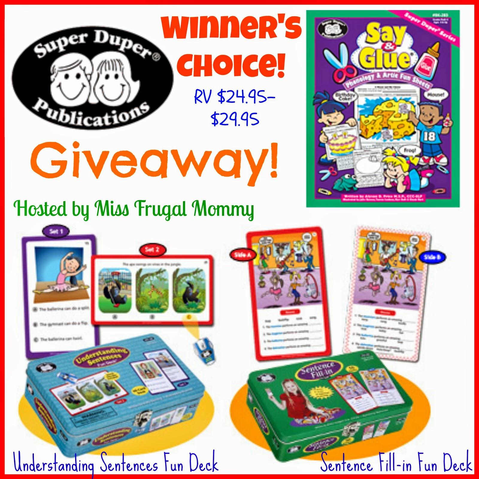 Super Duper Publications Fun Games Giveaway