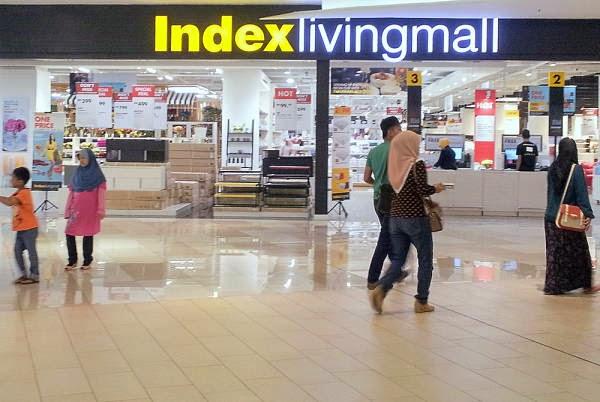 Die Index Living Mall in der IOI City Mall Putrajaya, das Prefekte Möblehaus für Expats die in Malaysia leben.