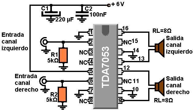 Circuito Amplificador De Audio : Amplificadores de audio sencillísimo amplificador estéreo