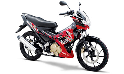 Warna Satria FU Candy Summer Red - Titan Black