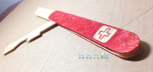 DIY safe toy Swiss knife 3