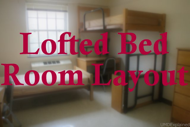 Standard Double Room Layout With Lofted Bed (La Plata Hall) Part 88