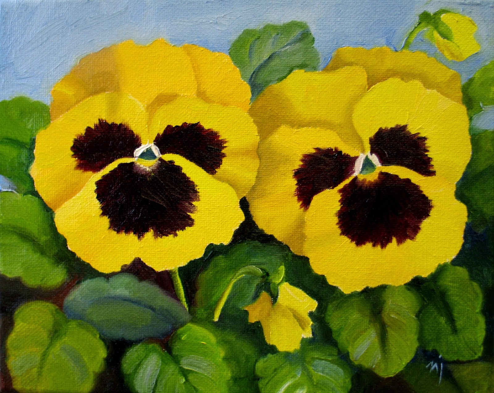 Nels Everyday Painting Yellow Pansies
