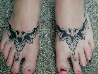 Artistic Tattoo Design for Feet