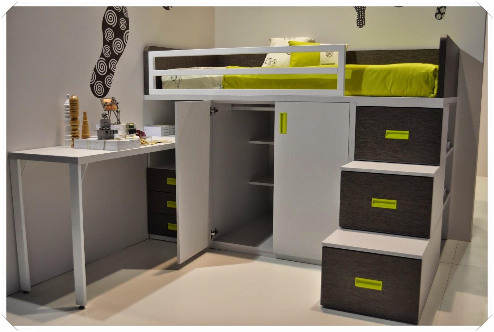 Amoblamientos y productos andrea w ffman camas bloque - Escaleras para camas altas ...