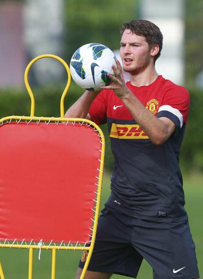 Nick Powell Training Man Utd