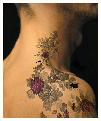 Floral colour tattoo: Tattoo Trends - Flowers