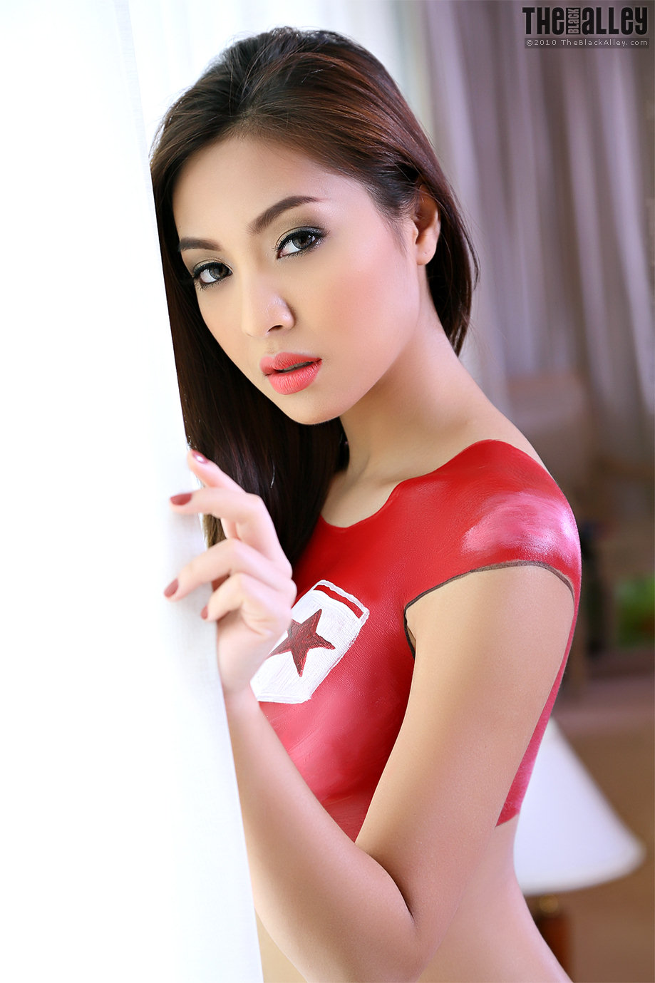 Asian Girl Body Paint