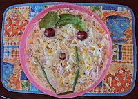 Sałatka z szynki i marynowanych warzyw