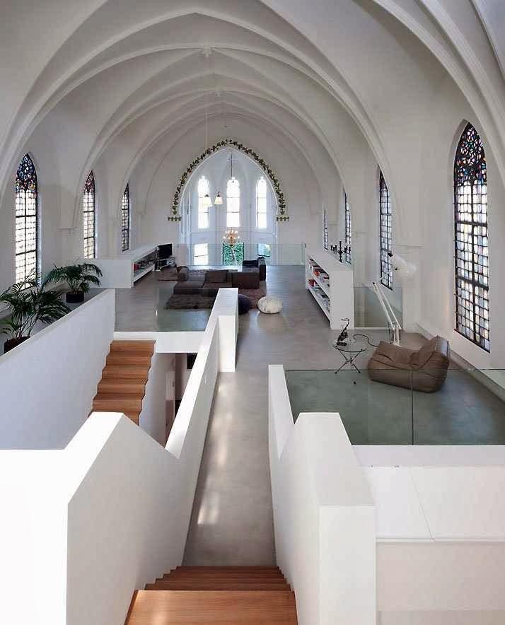 Igreja de Sankt Jacobus em Utrecht, Holanda, já virou residência