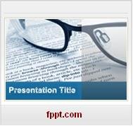 journalisme lunettes Modeles PPT Gratuits