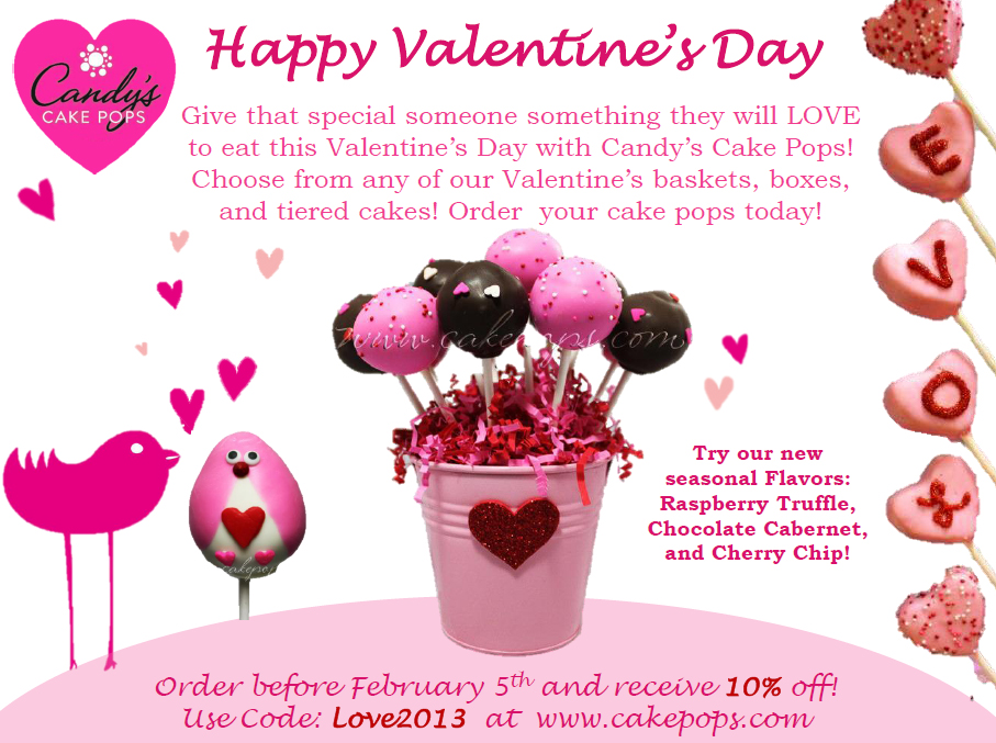 Candy s Cake Pops: Valentine Cake Pops Coupon Code!
