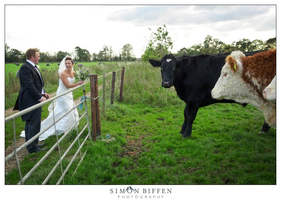 Bride & Groom on the farm - Simon Biffen Photography