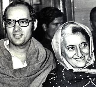 Sanjay Gandhi and Indira Gandhi