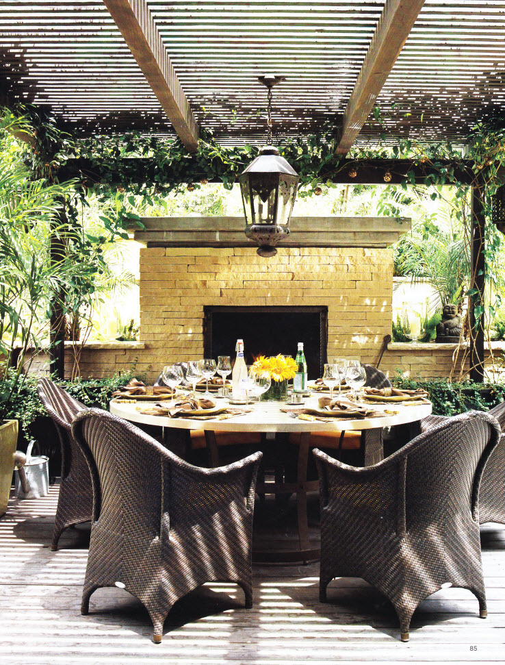 summer entertaining – outdoor dining rooms | thinking outside the