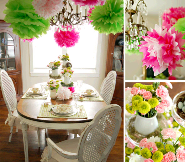 The duly noted table decor for spring