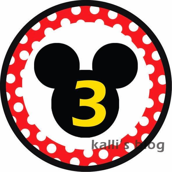 Αυτοκόλλητα Mickey για πάρτυ γενεθλίων!