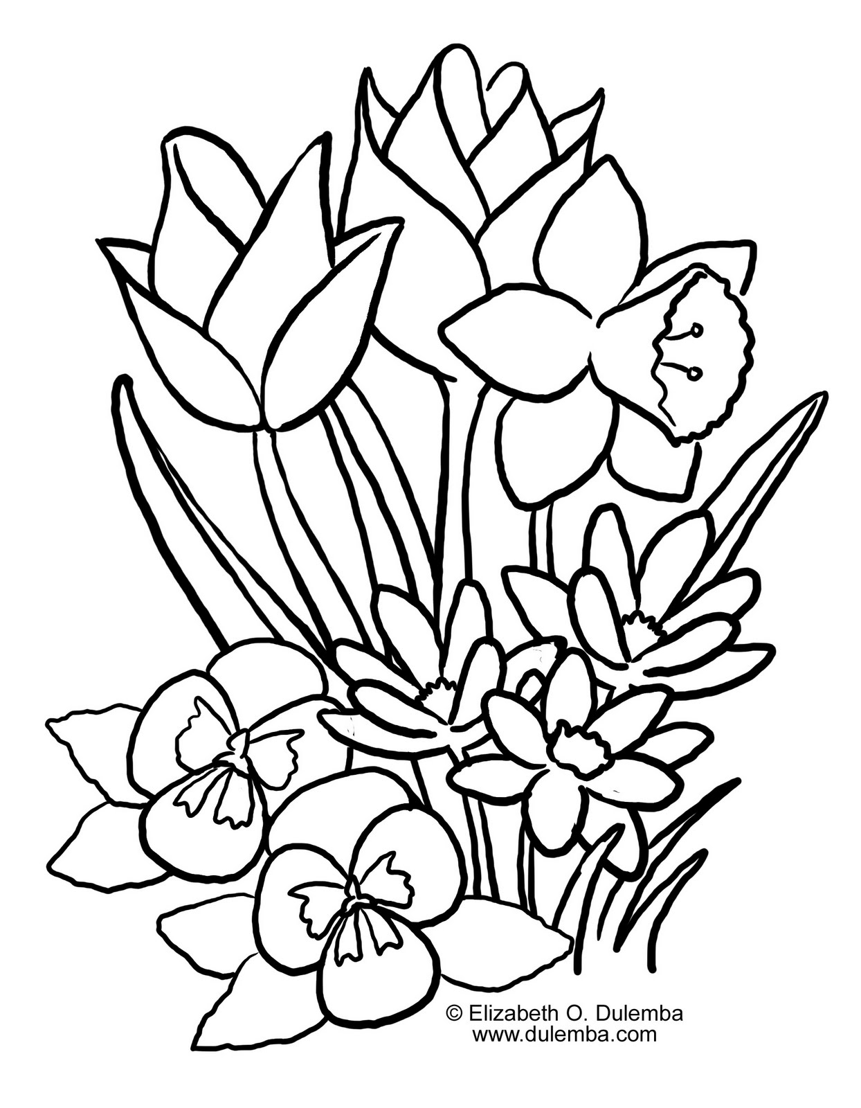 Spring Coloring Pages 2011 kentscraft