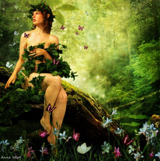 Eve in garden of Eden