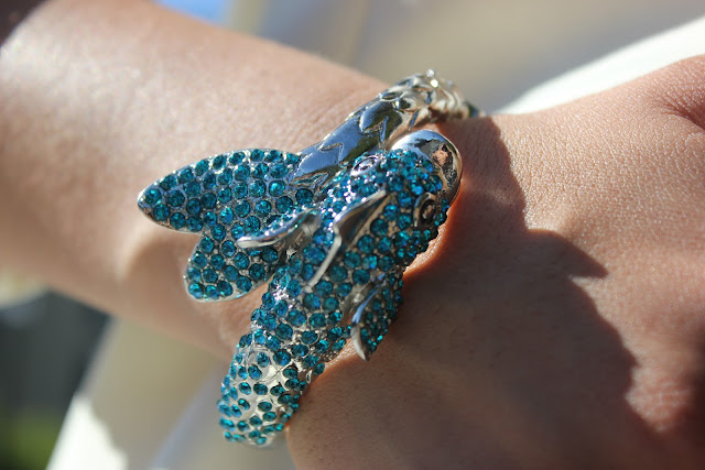 Forever 21 Fish Cuff Bracelet