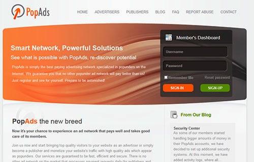 PopAds, gran alternativa a Adsense para ganar dinero con tu blog