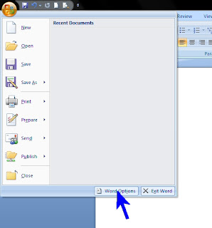 how to change the tab button in word