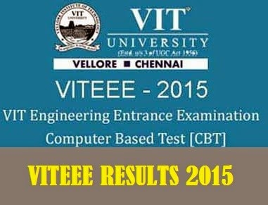 VITEEE 2015 Results Announced www.vit.ac.in