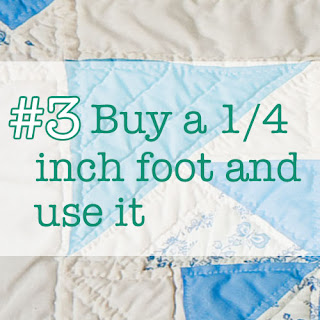 buy a 1/4 inch foot and use it