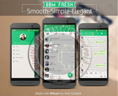 Free BBM Mod New Tema Fresh Prime And Lite Versi 2.9.0.51 Full Feature